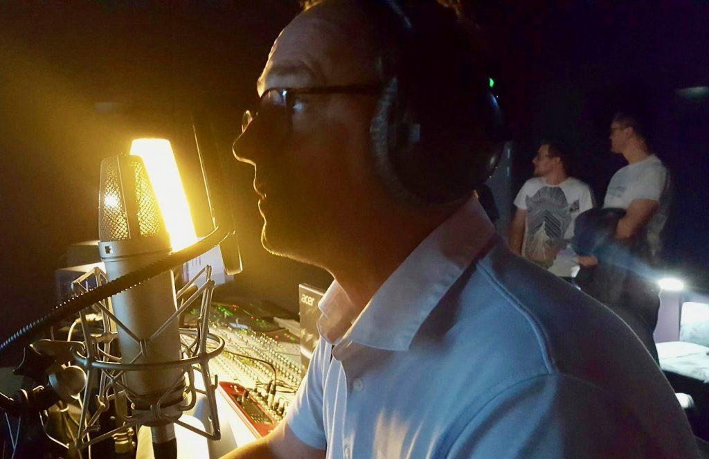 Mixage Framatome (Areva) : Laurent derrière le micro